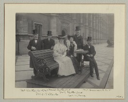 Group on the Terrace of the House of Commons, by Benjamin Stone - NPG x135133