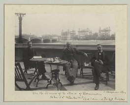 'On the Terrace of the House of Commons', by Benjamin Stone - NPG x135137