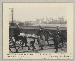 'On the Terrace of the House of Commons', by Benjamin Stone - NPG x135138