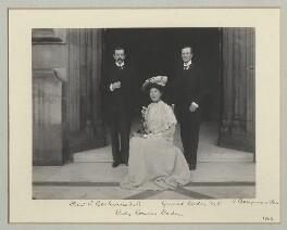 1st Baron Cochrane of Cults; Lady Wakehurst; 1st Baron Wakehurst, by Benjamin Stone - NPG x135142