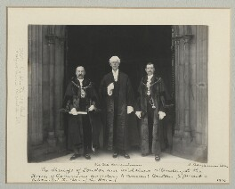 'The Sheriffs of London and Middlesex attending at the House of Commons according to ancient custom to present a petition at the Bar of the House', by Benjamin Stone - NPG x135144