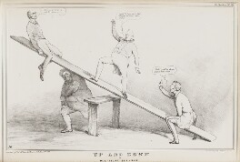 Up and Down or Political See-Saw, by John ('HB') Doyle, printed by  Alfred Ducôte, published by  Thomas McLean - NPG D41134