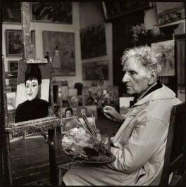 Martiros Saryan with his portrait of Ida Kar, by Ida Kar - NPG x135154