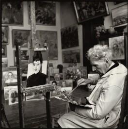 Martiros Saryan with his portrait of Ida Kar, by Ida Kar - NPG x135155