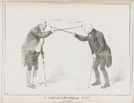 A Constitutional Tilt (Henry Richard Fox (later Vassall), 3rd Baron Holland; William Draper Best, 1st Baron Wynford), by John ('HB') Doyle, printed by  Alfred Ducôte, published by  Thomas McLean - NPG D41139