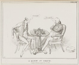 A Game at Chess (Charles Grey, 2nd Earl Grey; King William IV), by John ('HB') Doyle, printed by  Alfred Ducôte, published by  Thomas McLean - NPG D41150