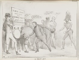 A Show Up!, by John ('HB') Doyle, printed by  Alfred Ducôte, published by  Thomas McLean - NPG D41151