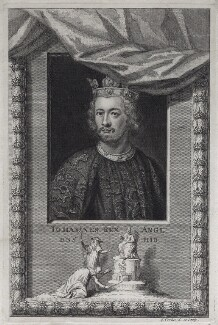 King John, by George Vertue, 1733 - NPG D42230 - © National Portrait Gallery, London