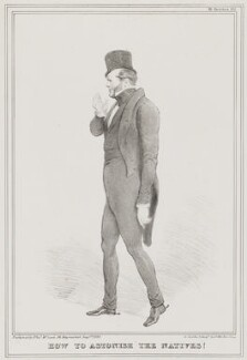 George Nugent Grenville, Baron Nugent ('How to Astonish the Natives!'), by John ('HB') Doyle, printed by  Alfred Ducôte, published by  Thomas McLean - NPG D41152