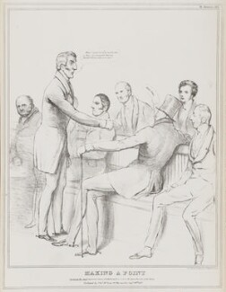 Making a Point, by John ('HB') Doyle, printed by  Alfred Ducôte, published by  Thomas McLean - NPG D41159