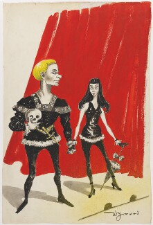 Laurence Olivier as Hamlet; Vivien Leigh, by Anthony Wysard - NPG D291