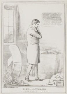 Daniel O'Connell ('View of an Interior'), by John ('HB') Doyle, printed by  Alfred Ducôte, published by  Thomas McLean - NPG D41160
