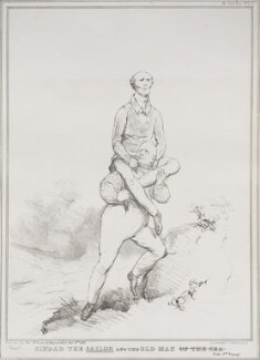 Sinbad the Sailor and the Old Man of the Sea (Charles Grey, 2nd Earl Grey; King William IV), by John ('HB') Doyle, printed by  Alfred Ducôte, published by  Thomas McLean - NPG D41170