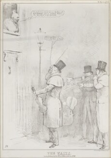 The Waits, by John ('HB') Doyle, printed by  Alfred Ducôte, published by  Thomas McLean - NPG D41172