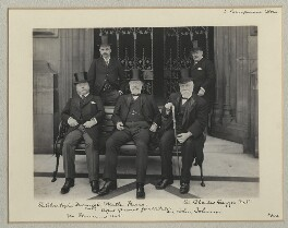 Group at the Houses of Parliament, by Benjamin Stone - NPG x135298