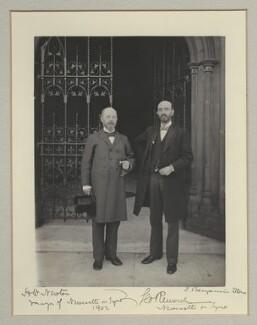 Sir Henry William Newton; Sir George Renwick, 1st Bt, by Benjamin Stone - NPG x135300
