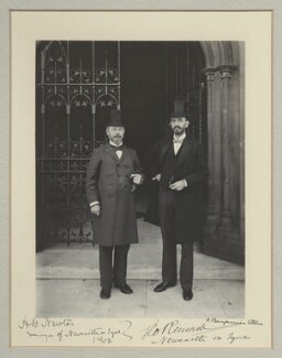 Sir Henry William Newton; Sir George Renwick, 1st Bt, by Benjamin Stone - NPG x135301