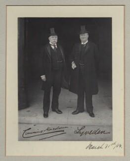 John Cumming Macdona; Courtenay Robert Percy Vernon, 3rd Baron Lyveden, by Benjamin Stone - NPG x135312