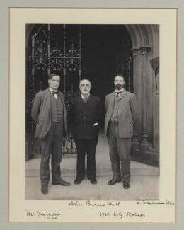 Clarence Seward Darrow; John Elliott Burns; Samuel George Hobson, by Benjamin Stone - NPG x135314