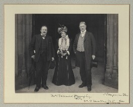 Mrs W. Desmond Humphreys (Eliza Margaret Jane Humphreys, née Gollan); William O'Malley and an unknown man, by Benjamin Stone - NPG x135315