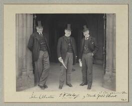 John Lloyd Wharton; Sir (Thomas) Frederick Halsey, 1st Bt; Sir Mark John MacTaggart Stewart, 1st Bt, by Benjamin Stone - NPG x135316