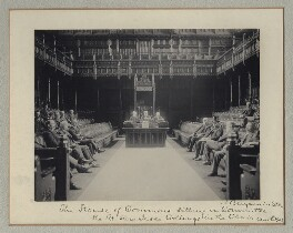 'The House of Commons Sitting in Committee', by Benjamin Stone - NPG x135317