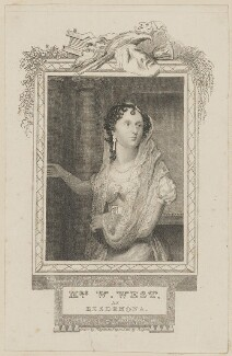 Sarah West (née Cooke) as Desdemona, by John Rogers, published by  George Virtue, after  Thomas Charles Wageman - NPG D38620