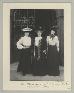 Violet Mignon Stannard; Henrietta Eliza Vaughan Stannard (née Palmer); Audrey Noel Palmer Stannard, by Benjamin Stone - NPG x135319