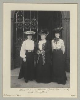 Violet Mignon Stannard; Henrietta Eliza Vaughan Stannard (née Palmer); Audrey Noel Palmer Stannard, by Benjamin Stone - NPG x135320