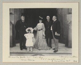 Sir John Henniker Heaton, 1st Bt; Marie Louise Rose; Mrs Rose; Sir John Throgmorton Middlemore, 1st Bt; John Cumming Macdona, by Benjamin Stone - NPG x135321