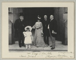 Sir John Henniker Heaton, 1st Bt; Marie Louise Rose; Mrs Rose; Sir John Throgmorton Middlemore, 1st Bt; John Cumming Macdona, by Benjamin Stone - NPG x135322