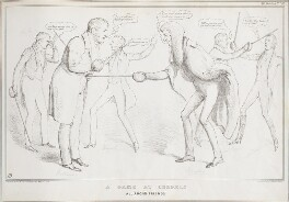 A Game at Cudgels All Among Friends, by John ('HB') Doyle, printed by  Alfred Ducôte, published by  Thomas McLean, published 25 May 1833 - NPG D41198 - © National Portrait Gallery, London