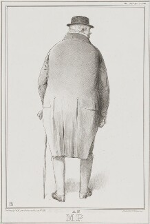Sir Robert Williames Vaughan, Bt ('An M.P.'), by John ('HB') Doyle, printed by  Alfred Ducôte, published by  Thomas McLean - NPG D41201