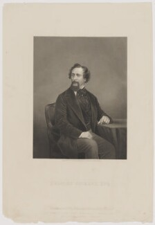 Charles Dickens, by Daniel John Pound, published by  The London Joint Stock Newspaper Company, after  John Jabez Edwin Mayall - NPG D42232
