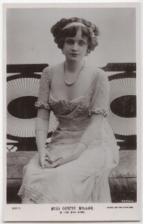 Gertie Millar as Mary Gibbs in 'Our Miss Gibbs', by Rita Martin, published by  J. Beagles & Co - NPG x131561