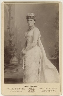 Lillie Langtry, by W. & D. Downey, 1880s - NPG x135355 - © National Portrait Gallery, London