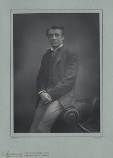 Sir Charles Wyndham (Charles Culverwell), by Herbert Rose Barraud, published by  Eglington & Co - NPG x12590