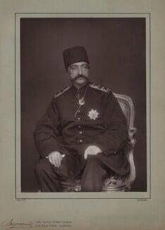 Nasser al-Din, Shah of Persia, by Herbert Rose Barraud, published by  Eglington & Co, published 1889 - NPG x74351 - © National Portrait Gallery, London