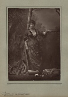 Mrs John Wood (Matilda Charlotte Vining), by Herbert Rose Barraud, published by  Eglington & Co - NPG x27540