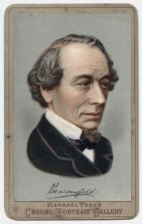 Benjamin Disraeli, Earl of Beaconsfield, by Raphael Tuck, possibly after  W. & D. Downey - NPG x135387
