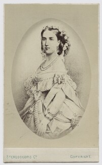 Carlota of Mexico, by London Stereoscopic & Photographic Company, after  Unknown artist - NPG Ax46193