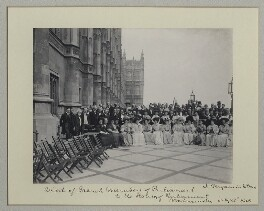 'Visit of French Members of Parliament to the Houses of Parliament', by Benjamin Stone - NPG x135018