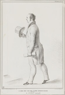 Sir Frederick Shaw, 3rd Bt ('A Man Wot has a Good Understanding although a Great Calf!'), by John ('HB') Doyle, printed by  Alfred Ducôte, published by  Thomas McLean, published July 1833 - NPG D41208 - © National Portrait Gallery, London