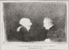 'Two Bright Constellations' (William Frederick, 2nd Duke of Gloucester; Sir Robert Thomas Wilson), by John ('HB') Doyle, printed by  Alfred Ducôte, published by  Thomas McLean - NPG D41211