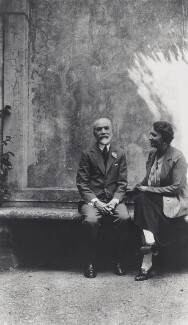 Bernard Berenson; Elisabetta ('Nicky') Mariano, by Unknown photographer - NPG Ax161109