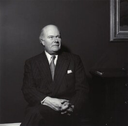 Sir Robert Philip Wyndham Adeane with paintings by De Chirico and Picasso, by Ida Kar - NPG x135427