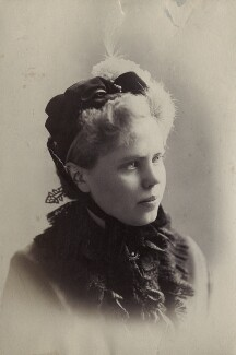 Evelyn Hunter Nordhoff, by Unknown photographer, 1884 - NPG Ax160581 - © National Portrait Gallery, London