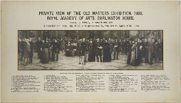 Key to Private View of the Old Masters Exhibition, Royal Academy, 1888, after Henry Jamyn Brooks, 1919 or after - NPG D42236 - © National Portrait Gallery, London