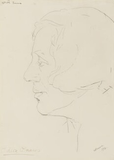Dame Edith Evans (Dame Edith Mary Booth), by Alfred Wolmark - NPG 6930
