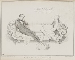 Brothers in Misfortune (John George Lambton, 1st Earl of Durham; Henry George Grey, 3rd Earl Grey), by John ('HB') Doyle, printed by  Alfred Ducôte, published by  Thomas McLean - NPG D41232